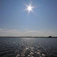 Яркое солнце над водохранилищем :: Сергей Тагиров