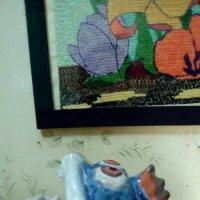 """Керамическая рыба """"Зубастик"""" на фоне картины. :: Светлана Калмыкова"""