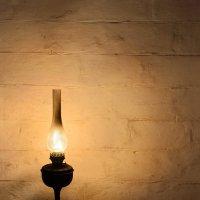 Kerosene lantern on wooden table :: Сергей Огарёв