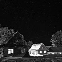 ночь,  горы, звёзды, ч/б... :: Ирина