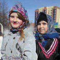 Ряженые девочки из воскресной школы в г Бердск . :: Мила Бовкун