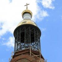 Строительство купола Храма  Петра  и  Павла. Пенза. :: Валерия  Полещикова