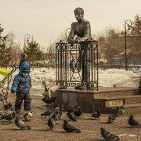 Мальчик гоняет голубей :: Андрей