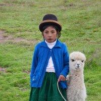 Девочка с альпакой :: Дмитрий Муромцев