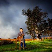 Мальчик с собакой :: Михаил Власов