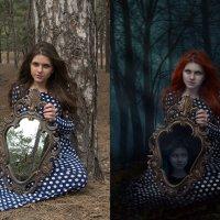 Таинственный лес (до и после) :: Veronika G