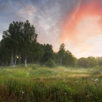 Александр Матвеев - Панорама туманного утра в средней полосе России
