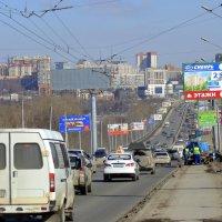 Движение по Новосибирскому мосту. :: Мила Бовкун
