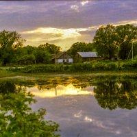 закат в деревне :: Александр Прохоренков