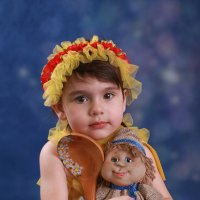 Девочка и Домовенок :: Римма Алеева