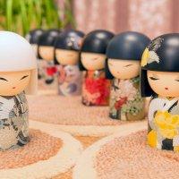 Японские куклы-талисманы. :: Татьяна Калинкина