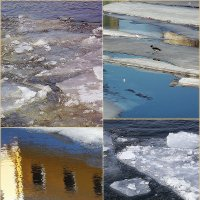 Мартовский лёд. Коллаж :: Весна
