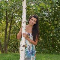 Портрет девушки с березкой :: Сергей Тагиров