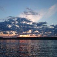 Закат на Клязьменском водохранилище :: Елена Волгина