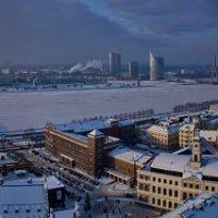 Новогодняя Рига с высоты собора Св. Петра :: Сергей Сабитов