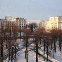Вид на зимний сквер :: Alena Cyargeenka