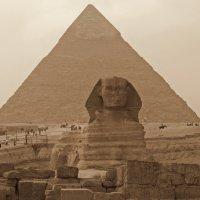 Пирамида и Сфинкс :: Oxana Morozova