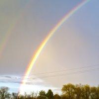 Двойная радуга в городе Армянск :: Александра Манжола