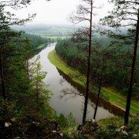 река Ай. Вид со скалы. :: Наталья Зимирева