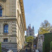 Швейцария, Лозанна. Лестница к Кафедральному собору. :: Наталья Иванова