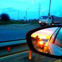 Закат на автотрассе. :: Михаил Столяров