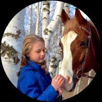 Девочка и конь :: Ольга Сусанова