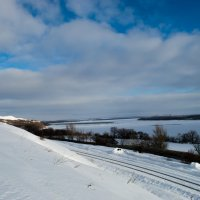 зимний залив :: Владимир Рудых