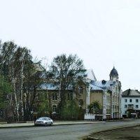 В старом Бийске.Пасмурный апрель. :: Владимир Михайлович Дадочкин