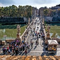 Рим, мост Св. Ангела :: Виталий Авакян