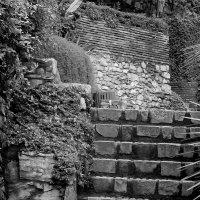Есть привлекательность своя в садах старинных,крутые лесенки и камни вековые... :: Эви и Владимир [][]][]]]]]