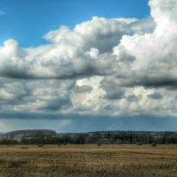 Тяжелые облака над  полем :: Милешкин Владимир Алексеевич