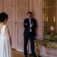 Жених и невеста в замке Бенрат, Дюссельдорф :: Witalij Loewin