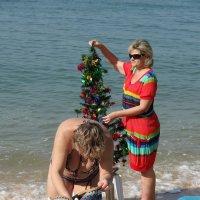 Новый год на пляже. :: Наталья Иванова