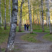 Двое в парке. :: Мила Бовкун