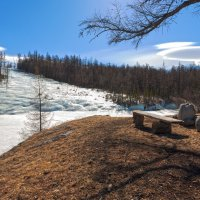 Место отдыха напротив ледяного потока :: Анатолий Иргл