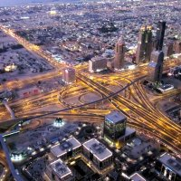 Вид на Дубай с Бурдж Халифа :: Елена Байдакова