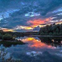 Клязьма на закате :: Сергей Цветков