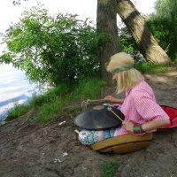 """Колдовство: русалка играет на """"черепахе"""" (удивительном ударно-мелодичном инструменте) :: Алекс Аро Аро"""