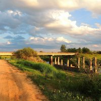 Летний вечер.Мост через Тверцу. :: Павлова Татьяна Павлова