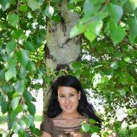 Летний портрет в ветвях березы :: Сергей Тагиров