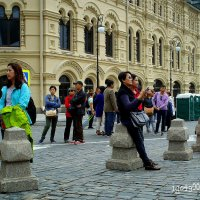 Китайские туристы   на Красной  площади ... :: Игорь Пляскин