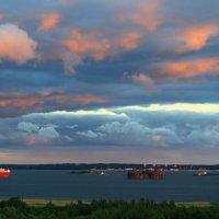 Июньский вечер на заливе. :: Анатолий Кушнер