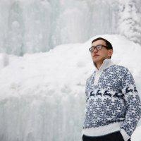 Зима. На водопаде :: Олеся Павлова