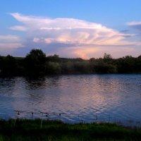 Закат на  рыбалке.... :: Валерия  Полещикова