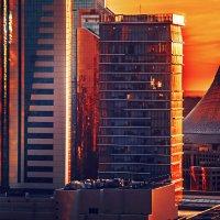Красный закат. Астана. :: Arman