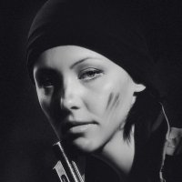 Portrait of a pretty girl with a revolver. :: krivitskiy Кривицкий