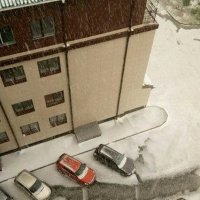 17 июня в Омске  снегопад и сильный ливень с градом :: Savayr