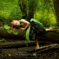 Listening to the tree sound (Little forest Nymph) :: Aleksandra Rastene