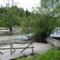 Тоня для ловли лосося, восстановленная обществом Лангинкоски :: Елена Смолова