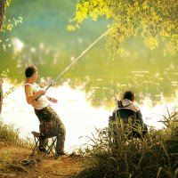 На рыбалке :: Kassen Kussulbaev